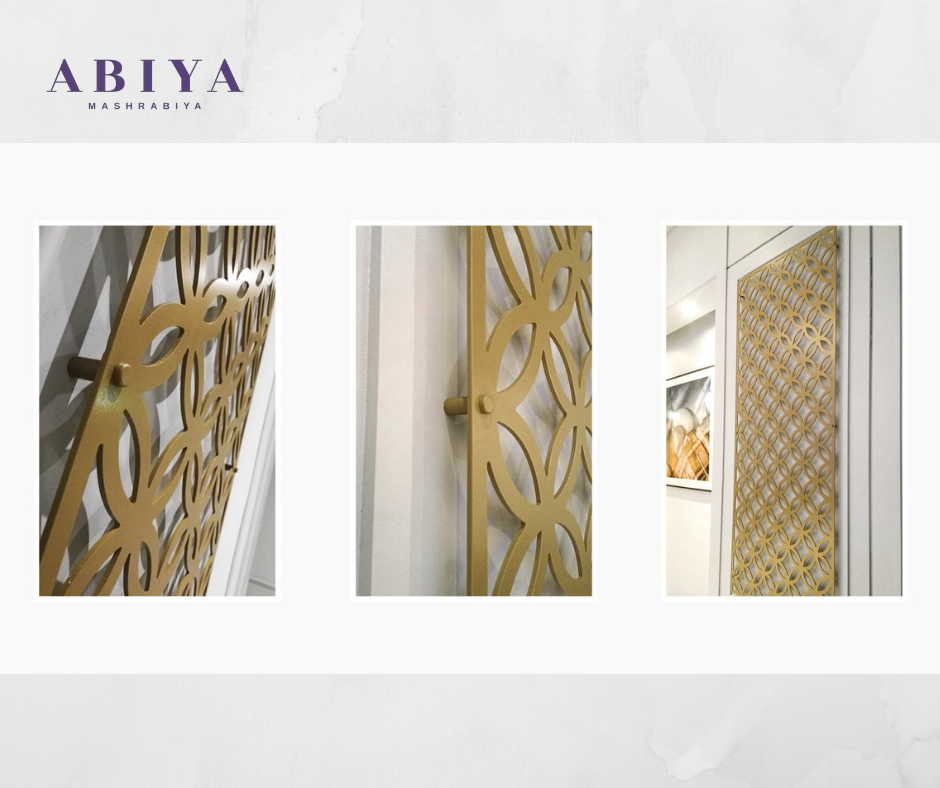 Wall Decor by Abiya Mashrabiya-Custom Laser Cut Metal Decorative Panel