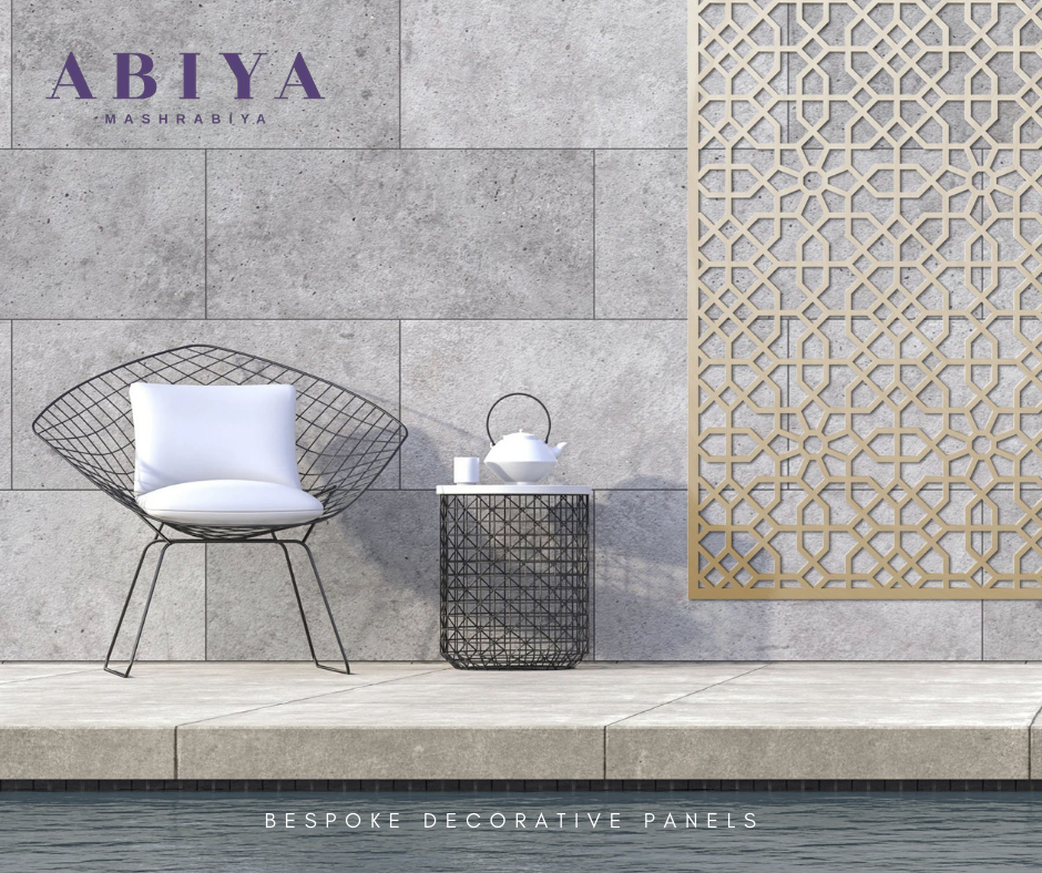 Outdoor Patio Decor idea use a Wall Decor-Metal Decorative Laser Cut Screen & Panels-Modern Mashrabiya