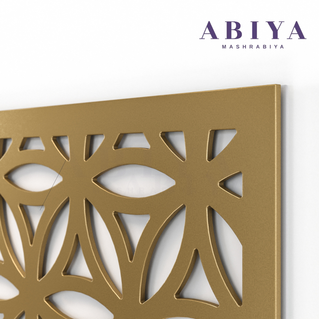 Metal Decorative Laser Cut Screen & Panels-Modern Mashrabiya by ABIYA