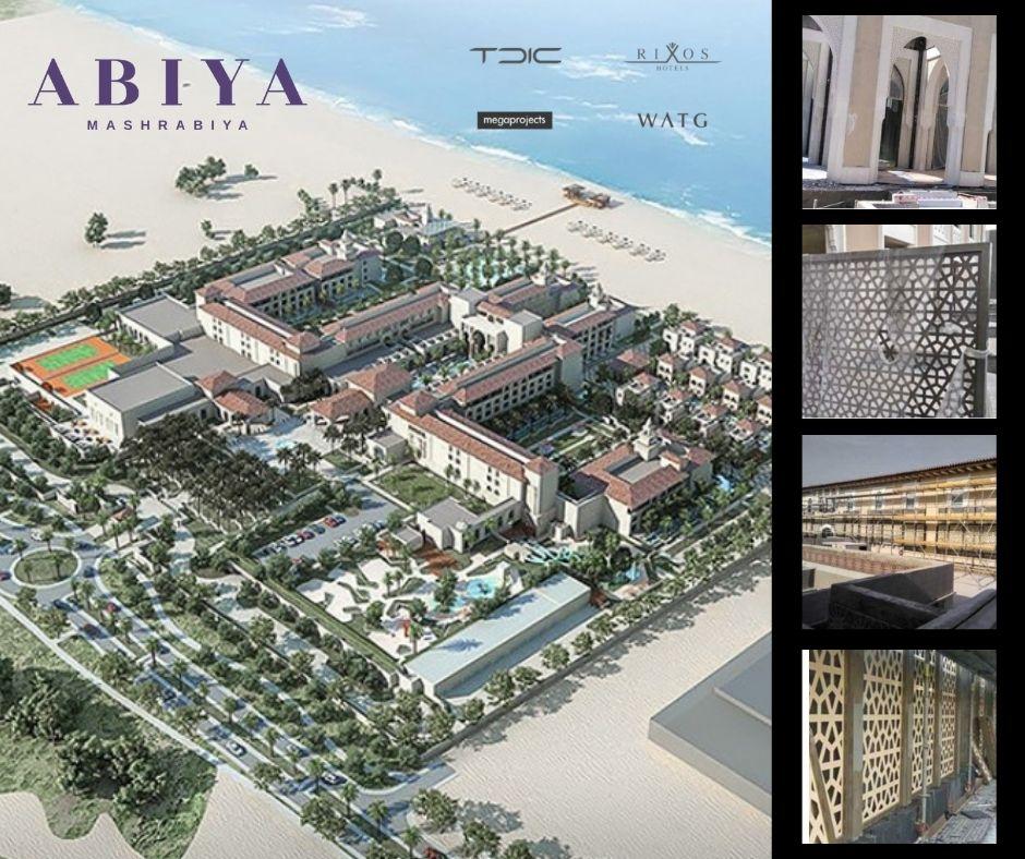 ABIYA Project at Rixos Resort, Saadiyat Island featuring Mashrabiya Panels