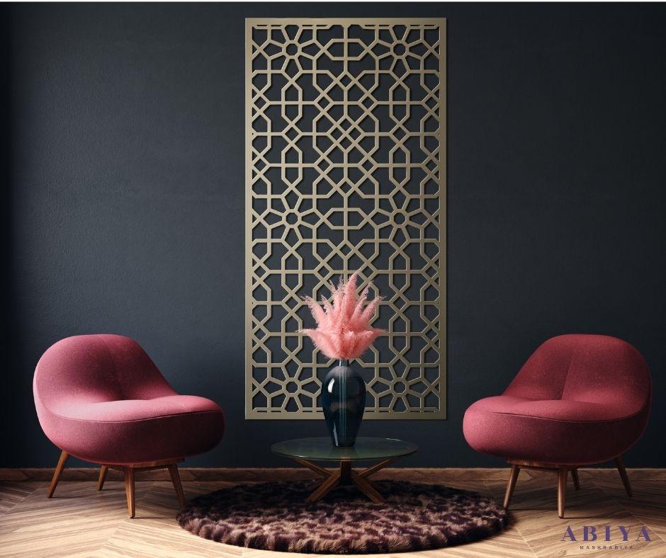 Living Room Wall Decor-Metal Decorative Laser Cut Screen & Panels-Modern Mashrabiya