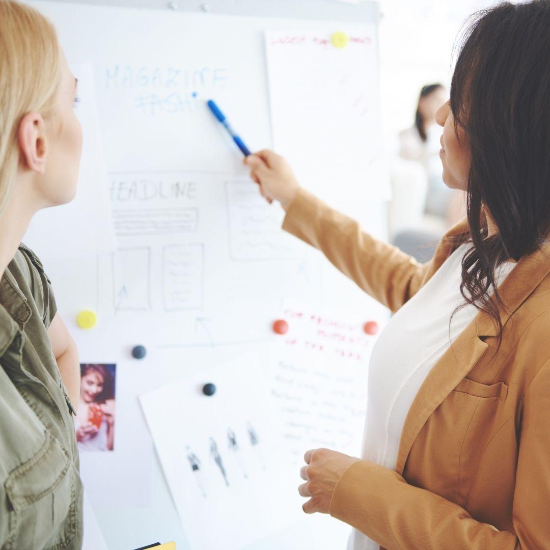 Image of 2 people discussing Interior Design Ideas