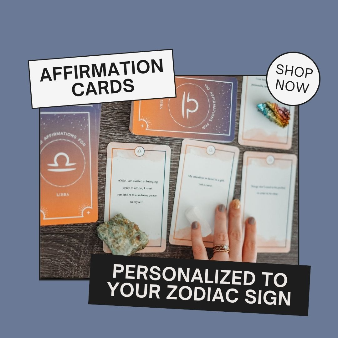 zodiac affirmation cards