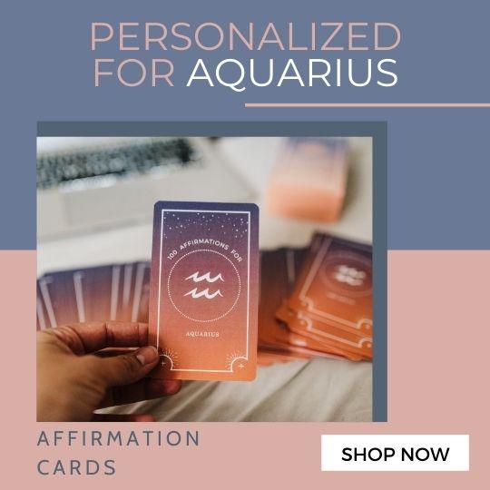 Aquarius Affirmation Cards