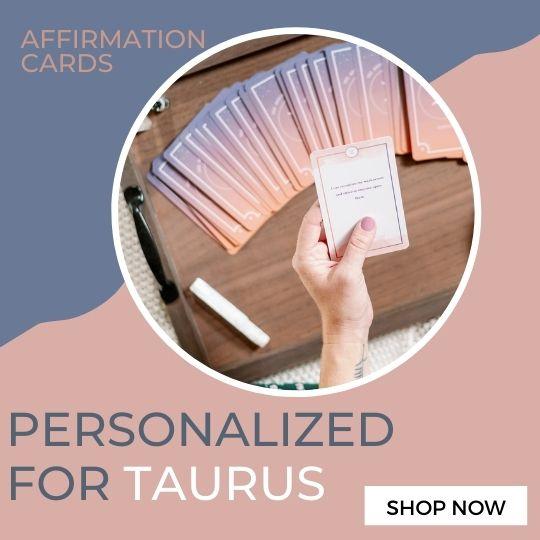 Taurus Affirmation Cards