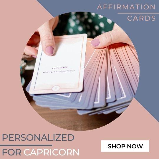 Capricorn Affirmation Cards