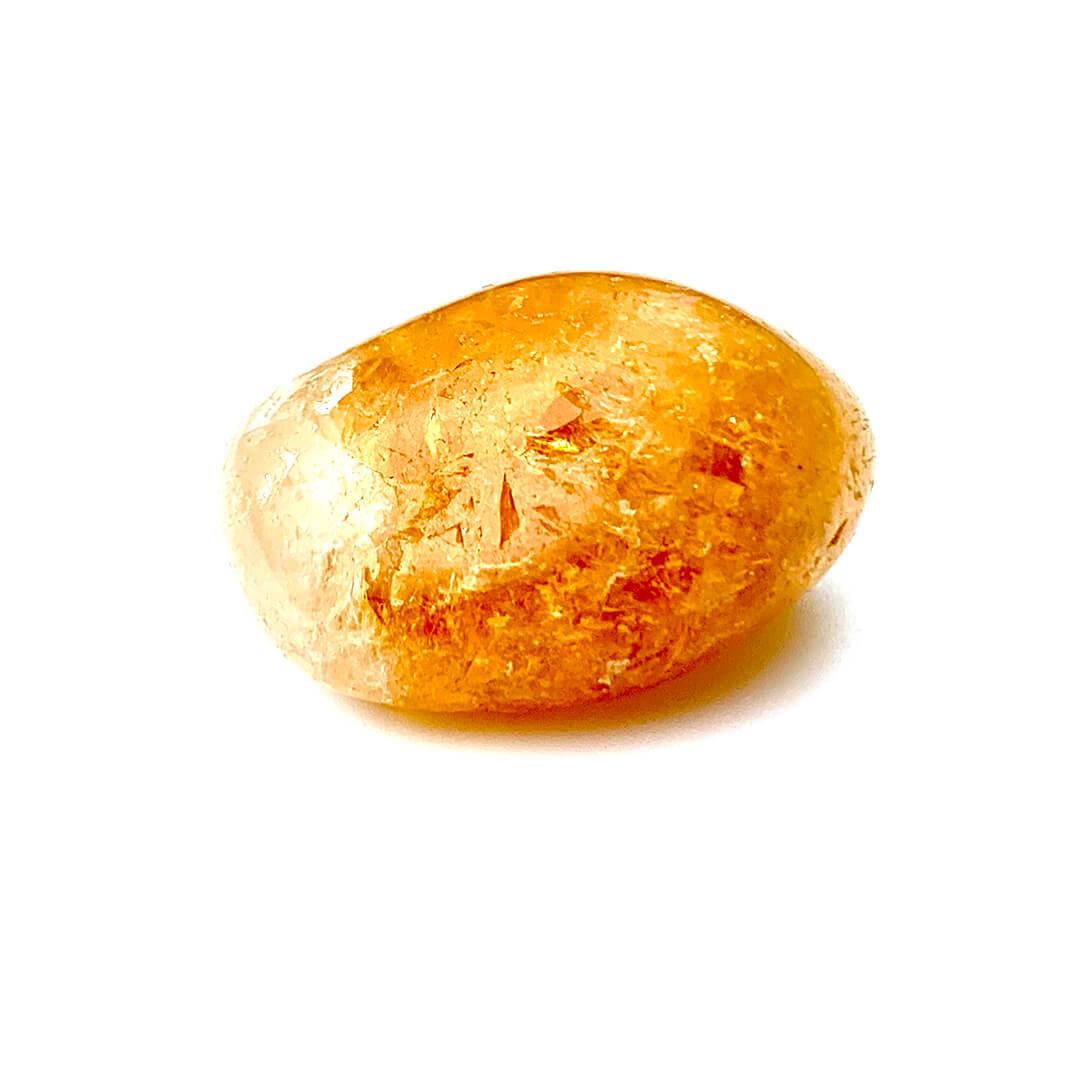 citrine tumbled stone