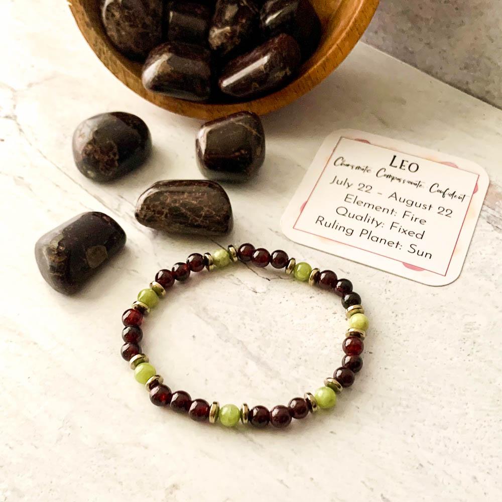 leo crystal zodiac bracelet ancient element creations