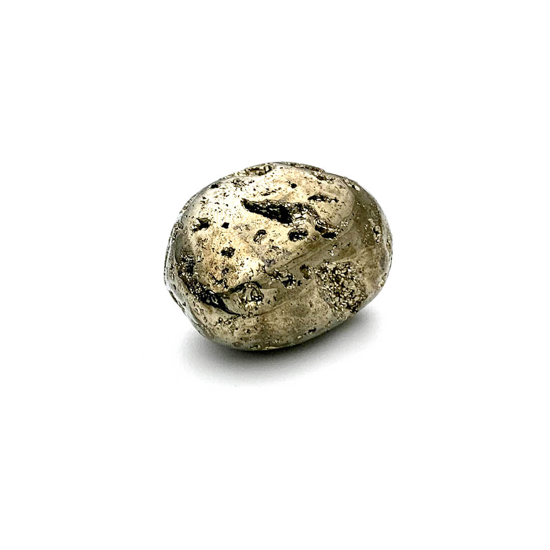 Pyrite tumbled stone
