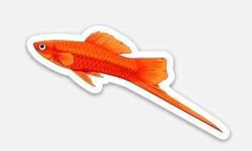 Swordtail Fish Sticker