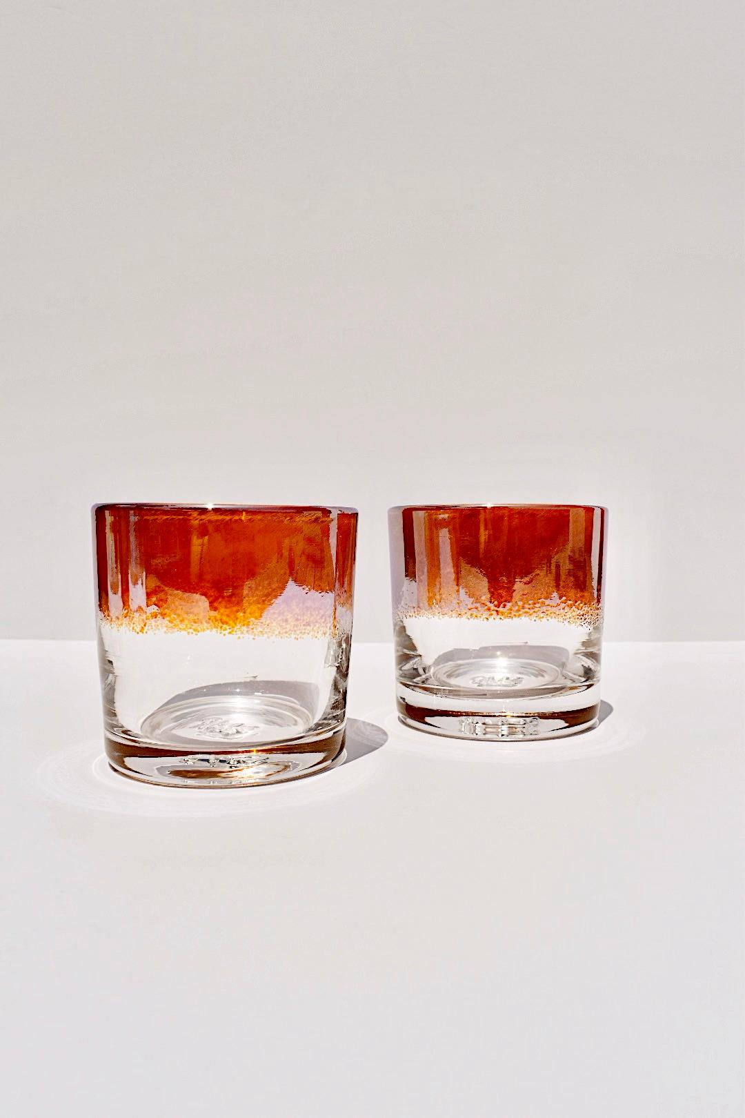 IRIS AMBER ROCKS GLASS