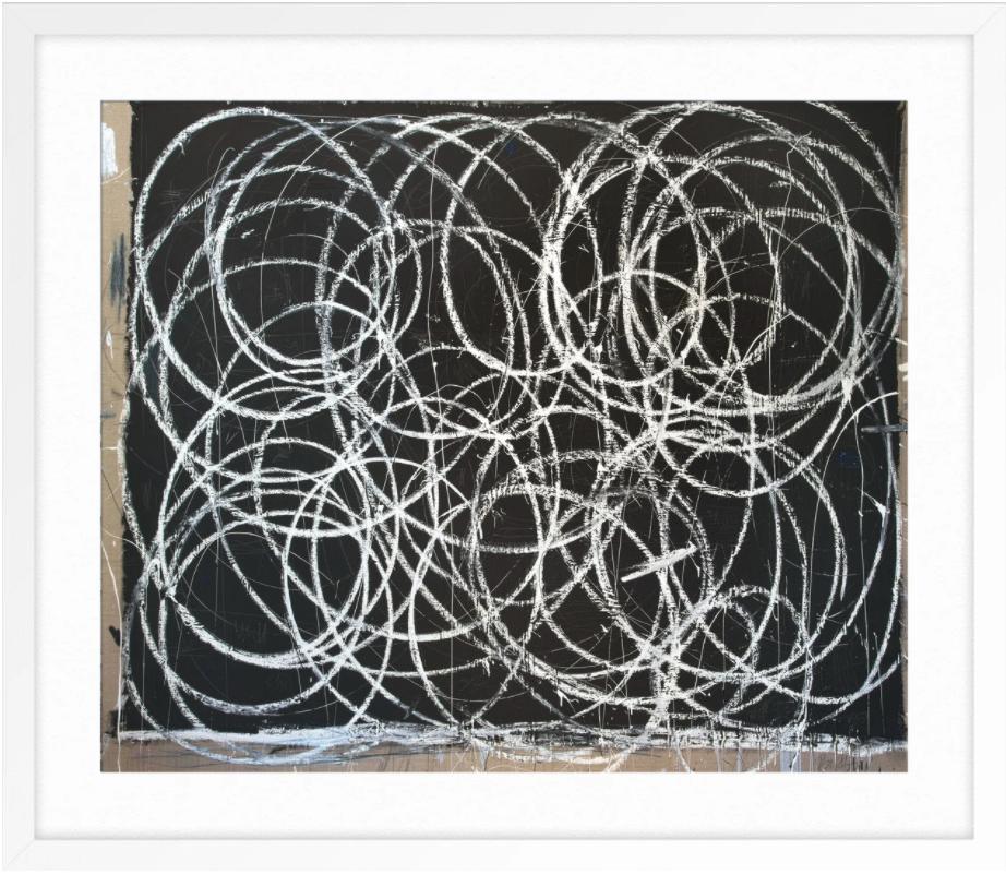 BLACK WITH MANY WHITE SWIRLS By BRIGGS SOLOMON