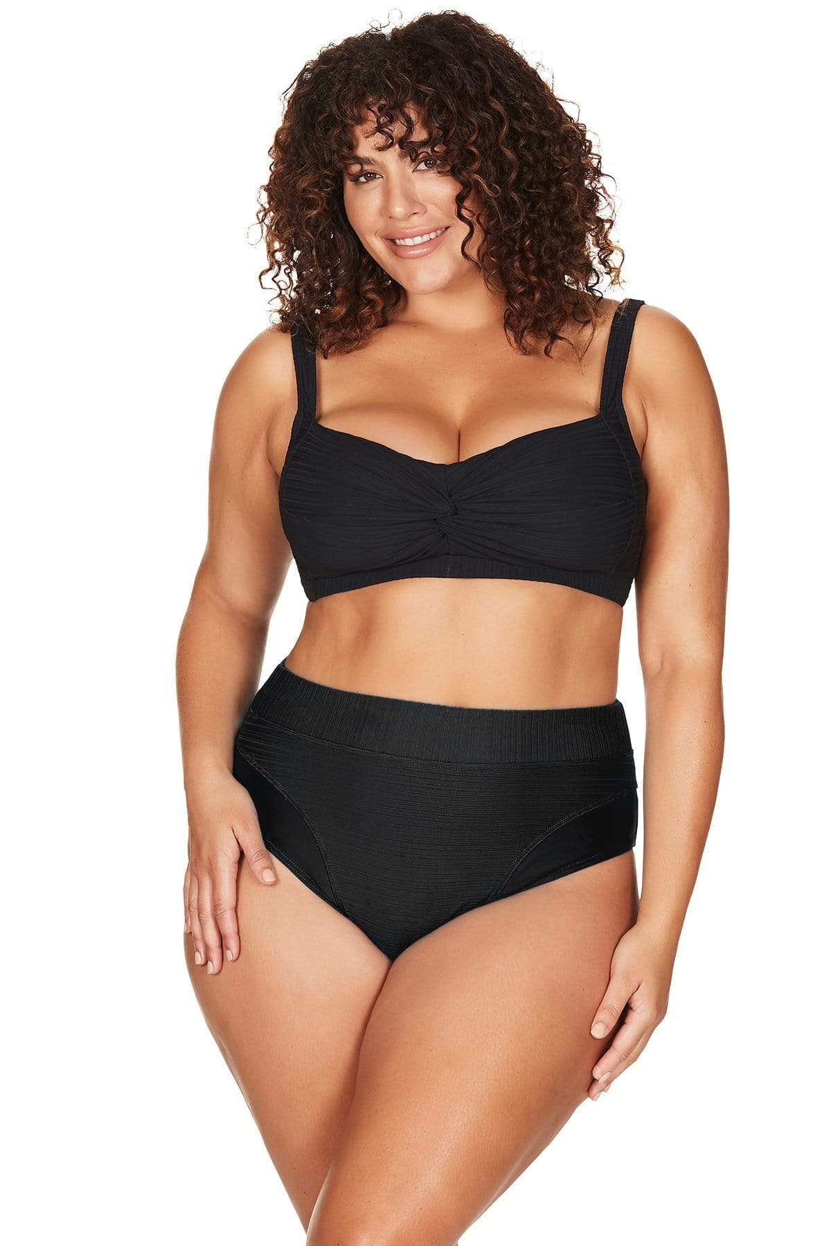 Artesands Curve Plus Size Aria Black Swimwear