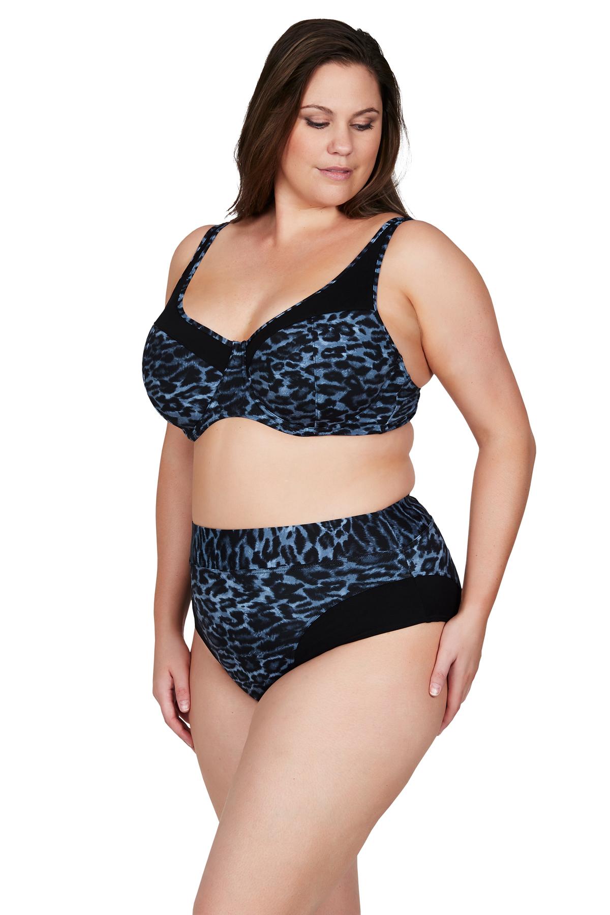 Artesands Curve Plus Size Le Blu Animale Swimwear