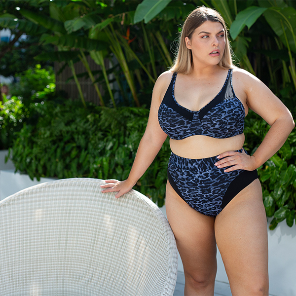 HUES BLACK HAYES UNDERWIRE ONE PIECE