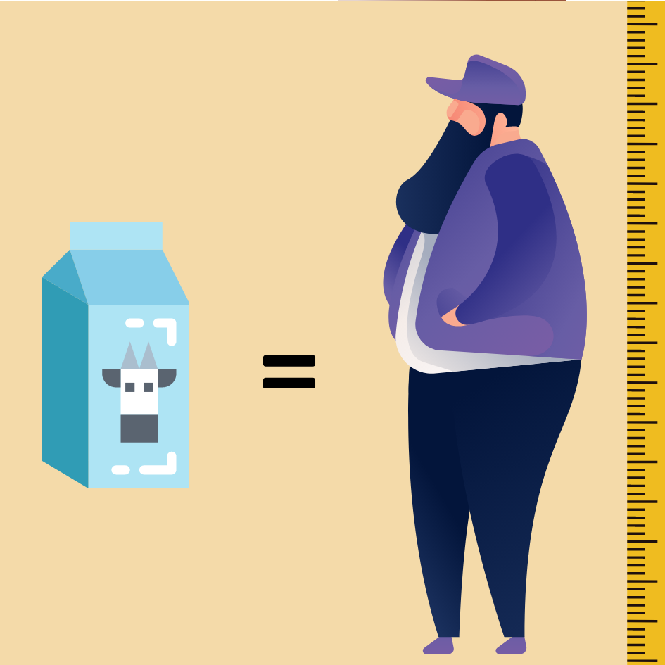 Kan man blive højere af at drikke mælk?
