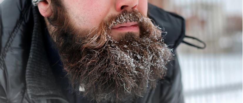 Undgå tørt og slidt skæg om vinteren