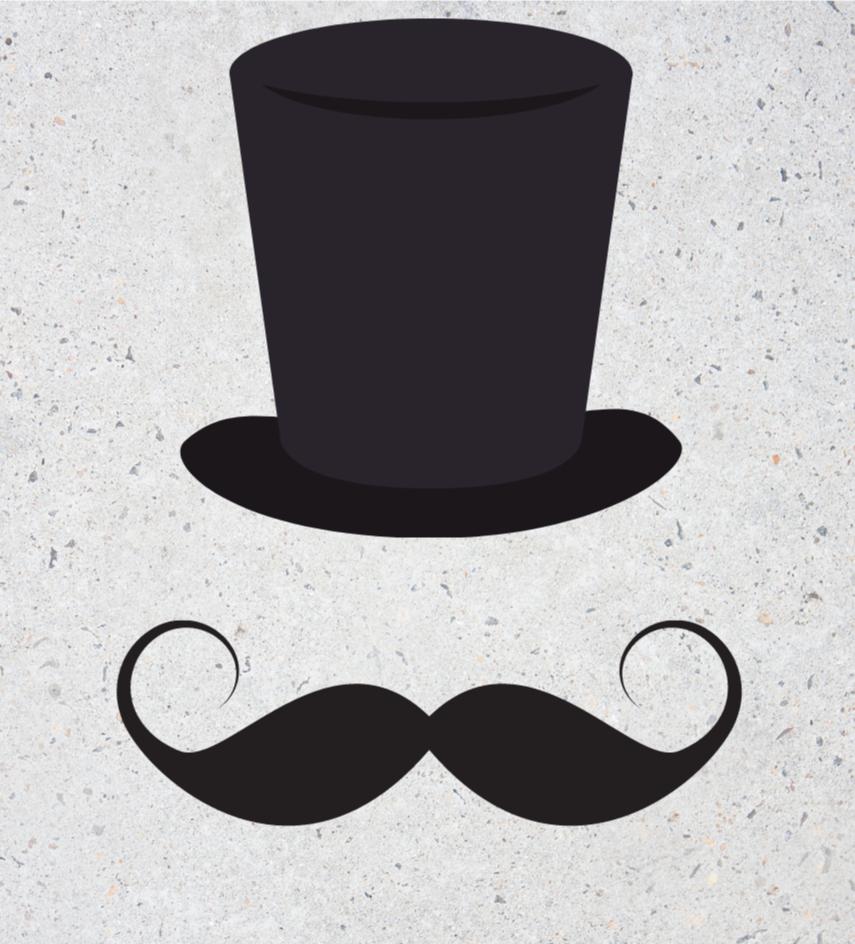 Cykelstyr og engelsk overskæg