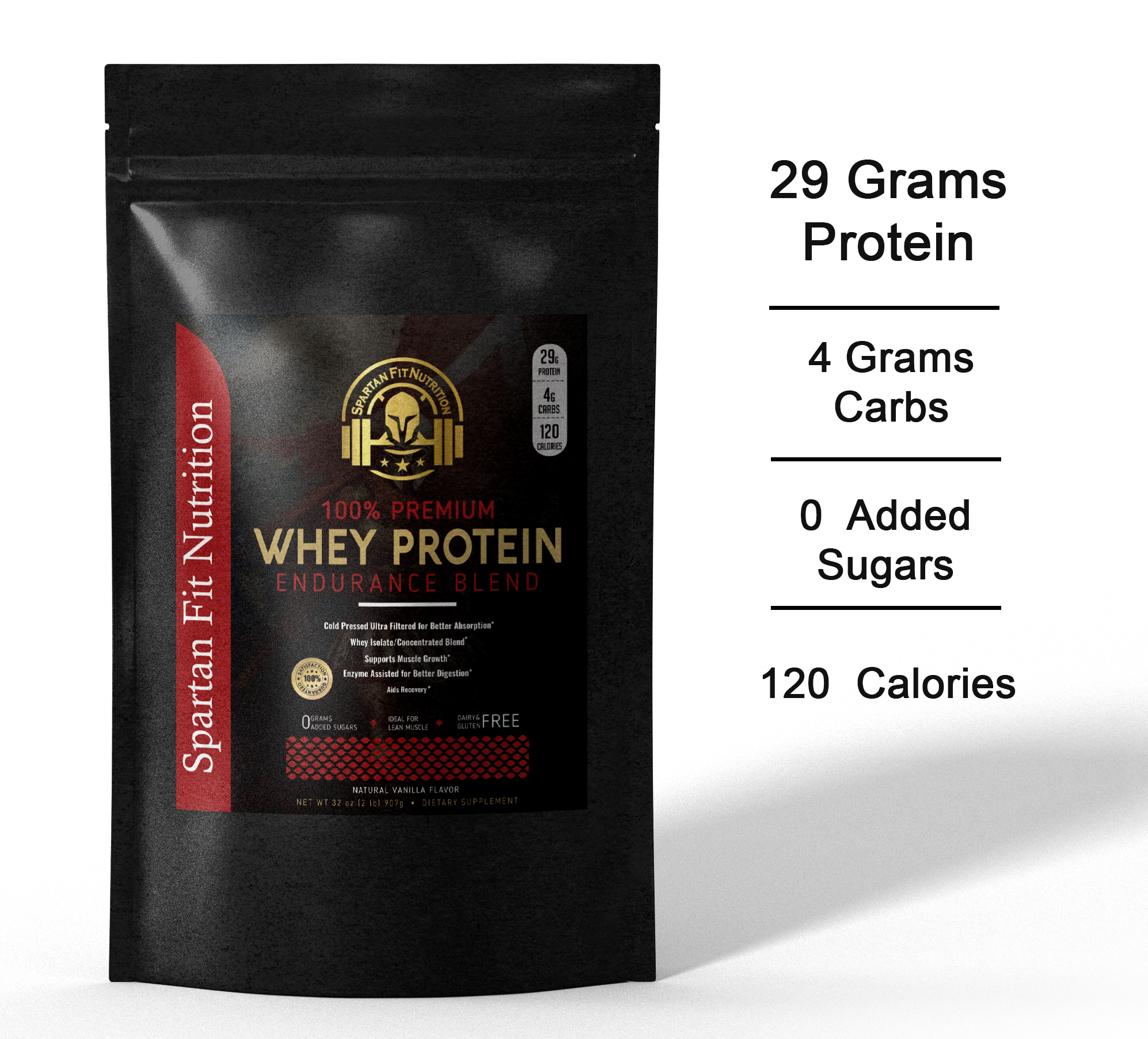 Protein Powder Bag 29 Grams of Protein 0 Added Sugar 0 Carbs