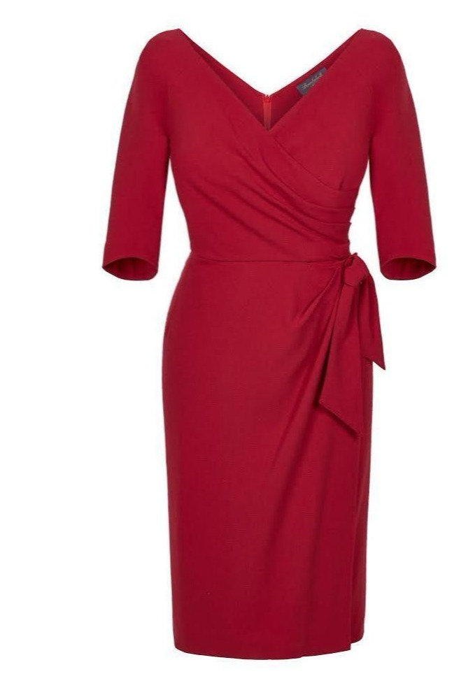 Red dress flattering style