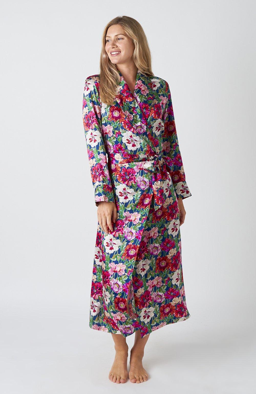 Women's Silk Dressing Gown Bonsoir Of London