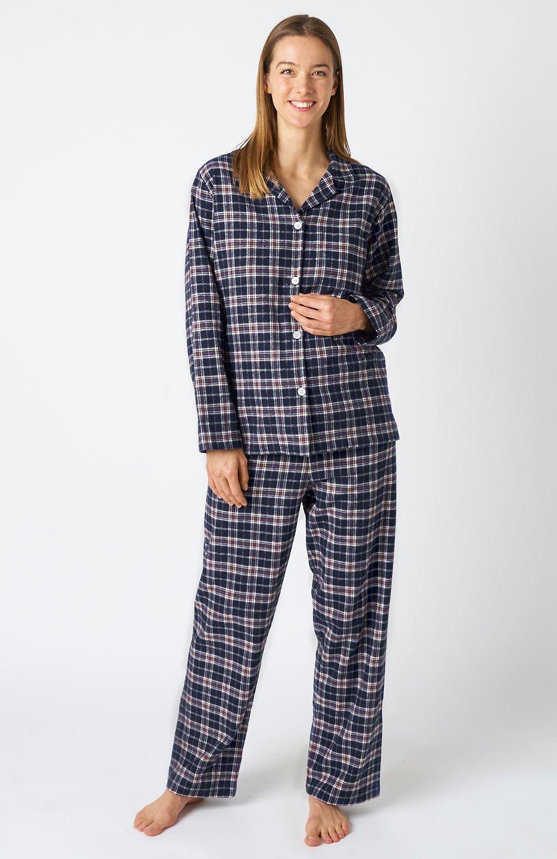 Women's Plaid Pyjamas Brushed Cotton Flannel Bonsoir of London