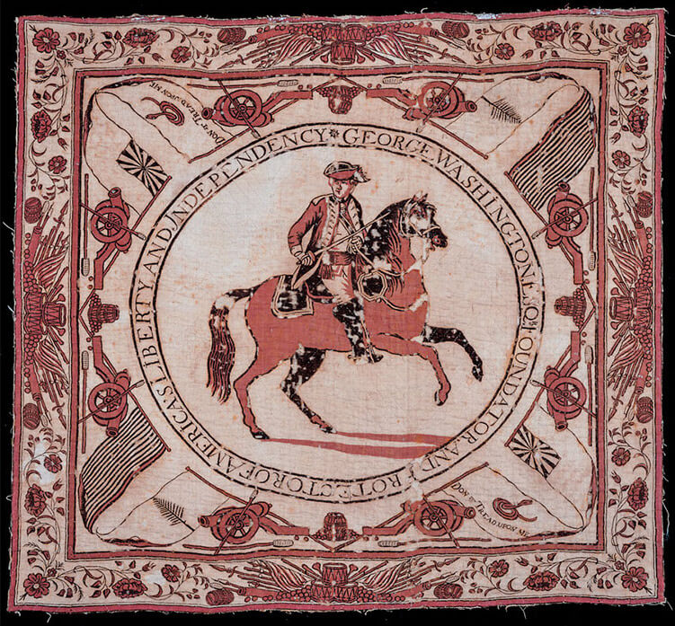 the george washington bandana commissioned by martha washington