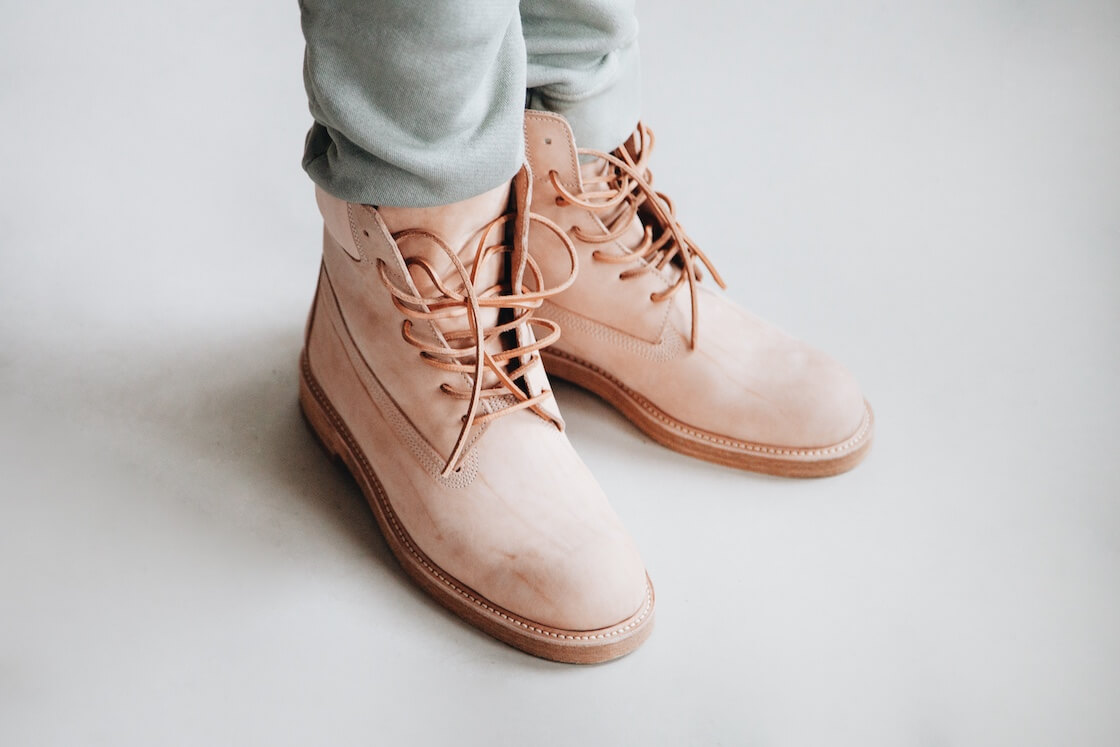 velva sheen army gym pants and hender scheme mip 14 boots on body
