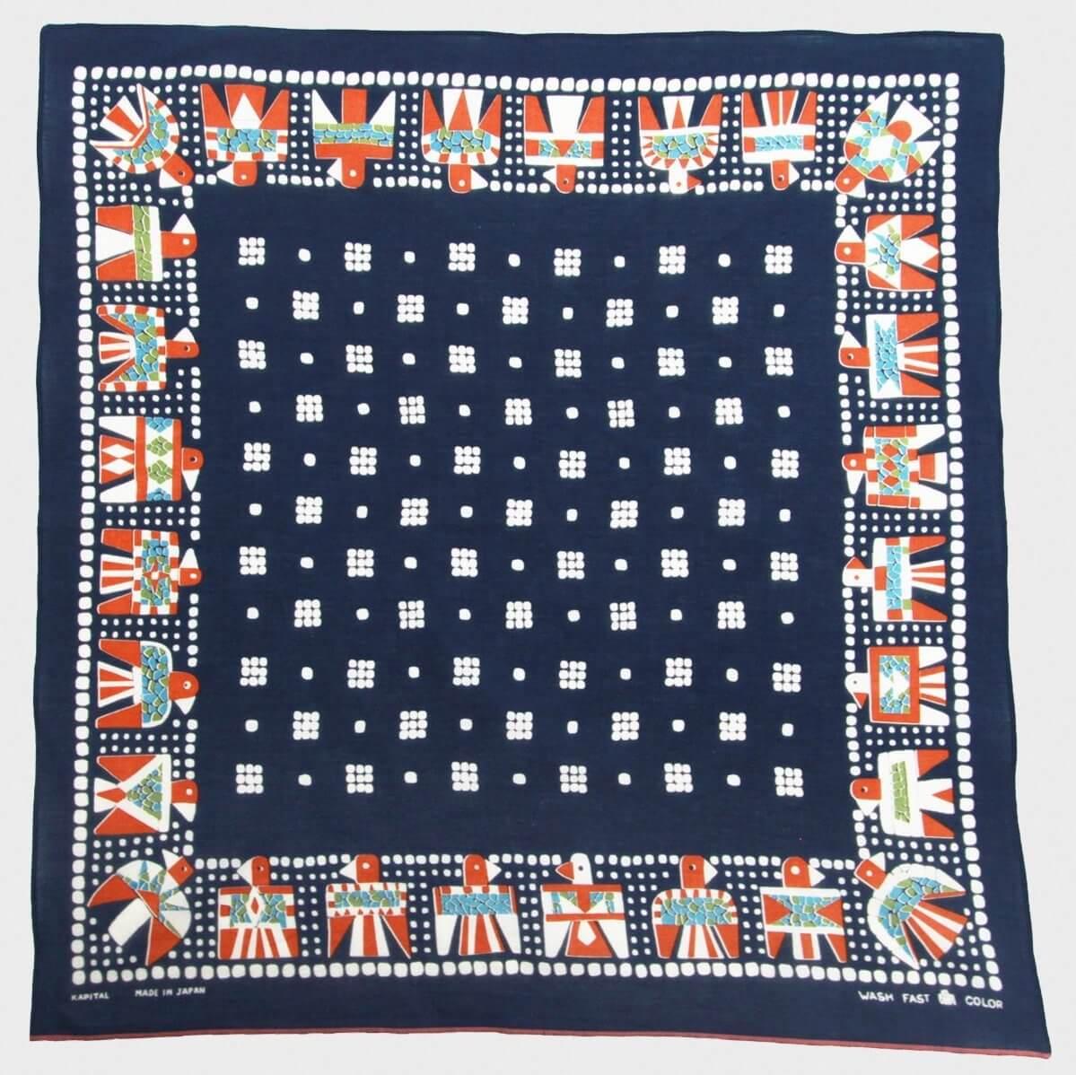 kapital thunderbird bandana with dice pattern