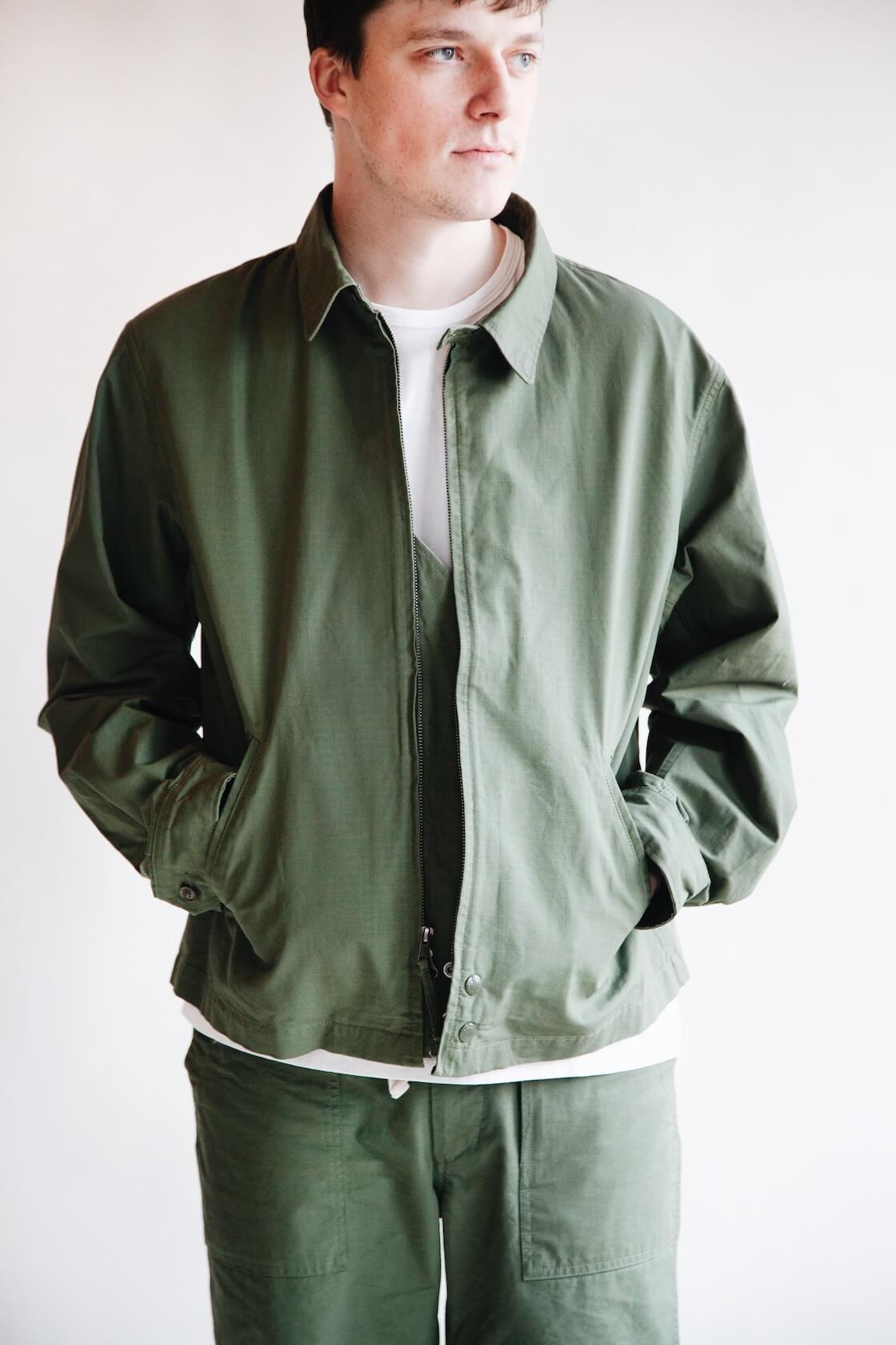 engineered garments claighton jacket on body