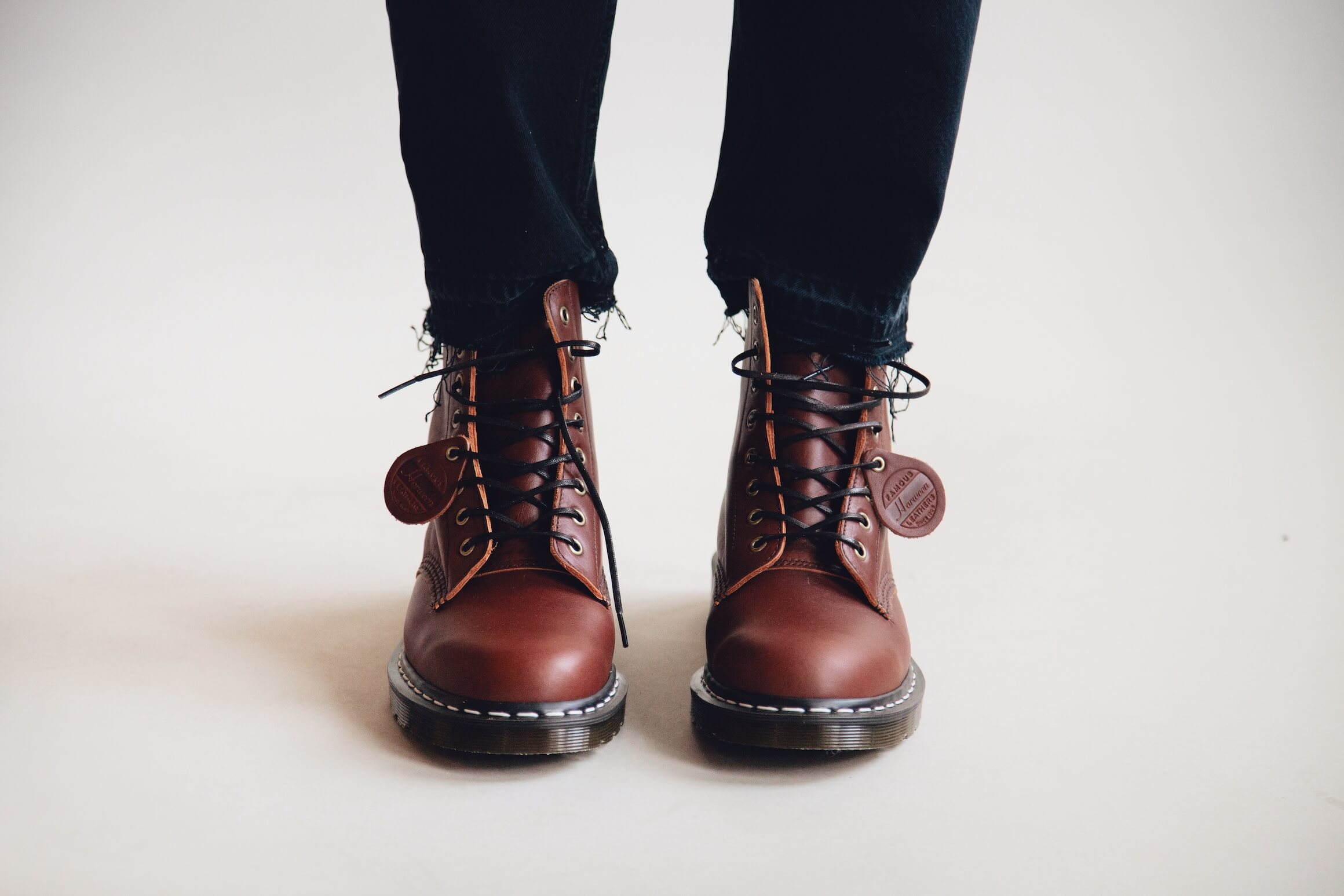 harmony dorian jean and dr. martens made in england 1460 boots on body