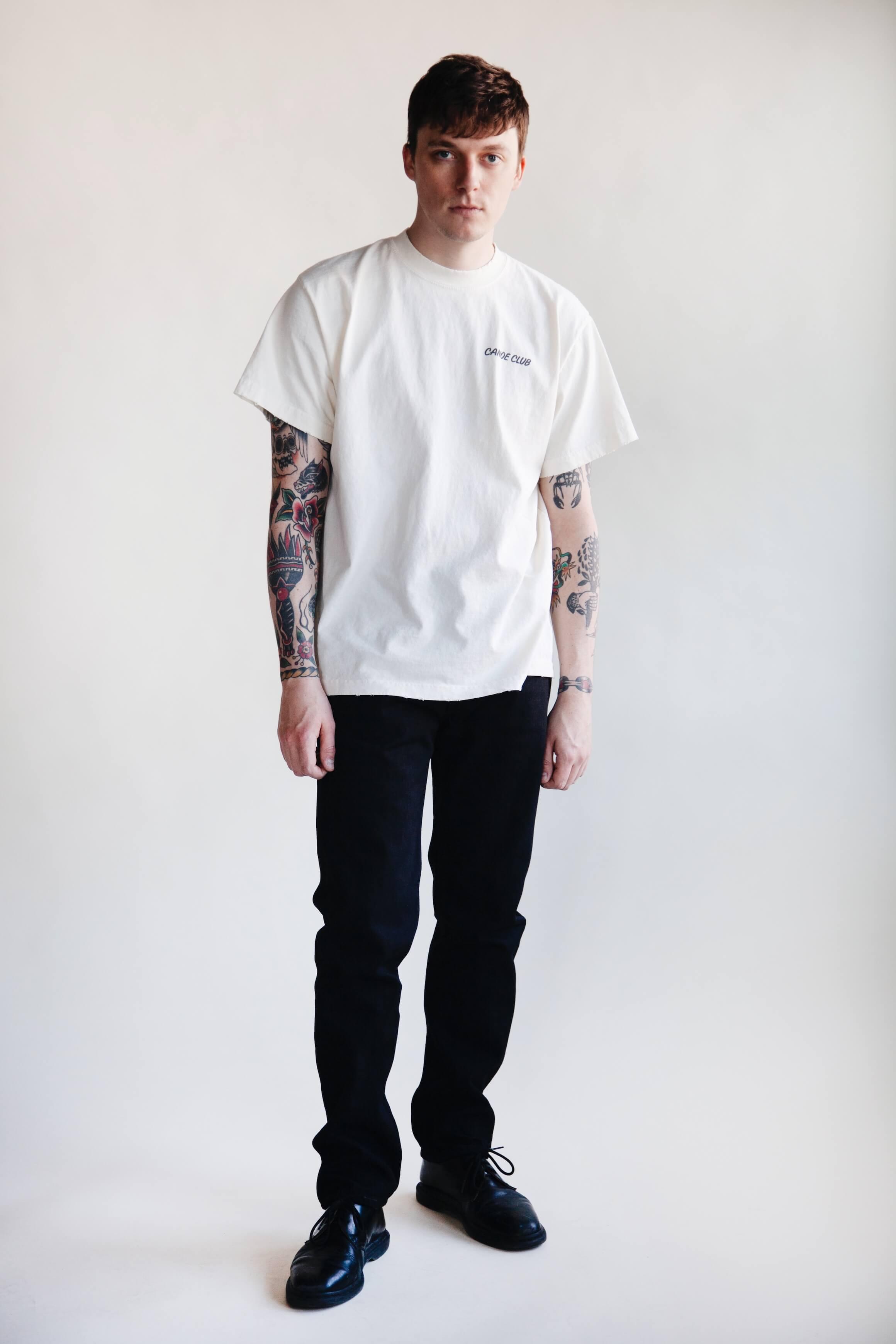 orslow 107 Ivy Denim - Black on male model