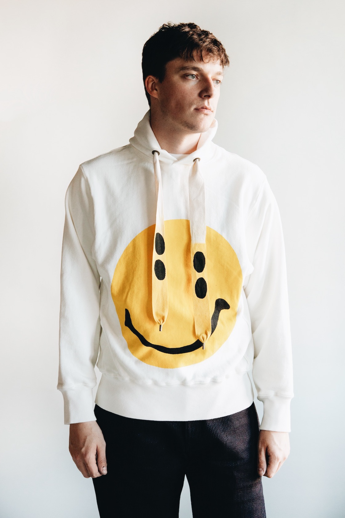 kapital kountry clothing japan smiley sweatshirt on body
