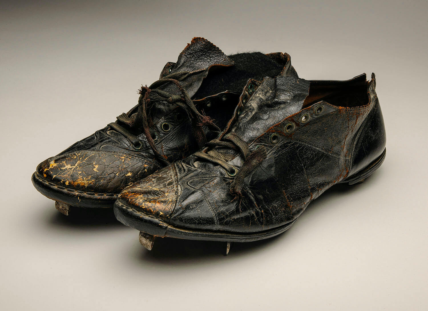 babe ruths cleats at the national baseball hall of fame from 1939