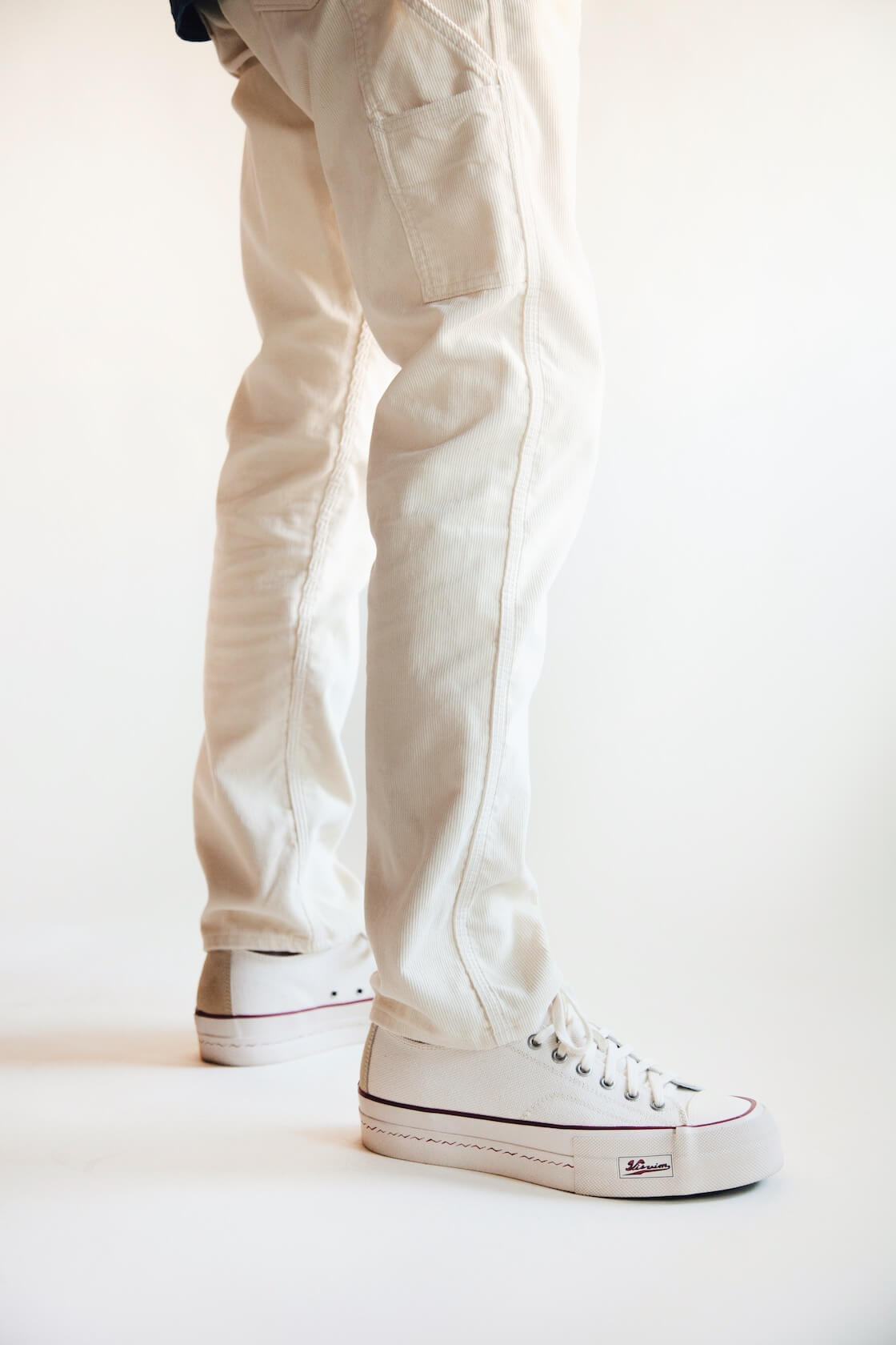 orslow painter pants, and visvim skagway lo canvas shoes on body