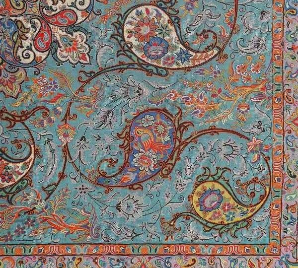 traditional boteh design from iran
