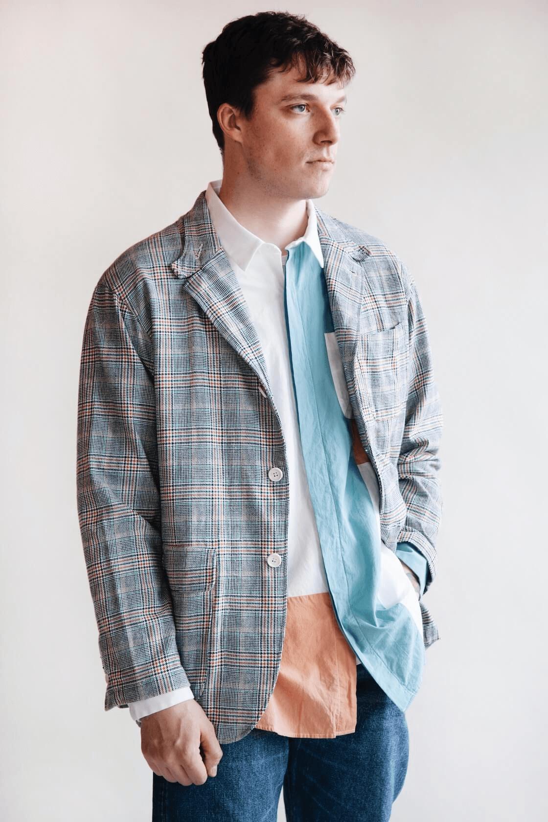 engineered garments loiter jacket on body