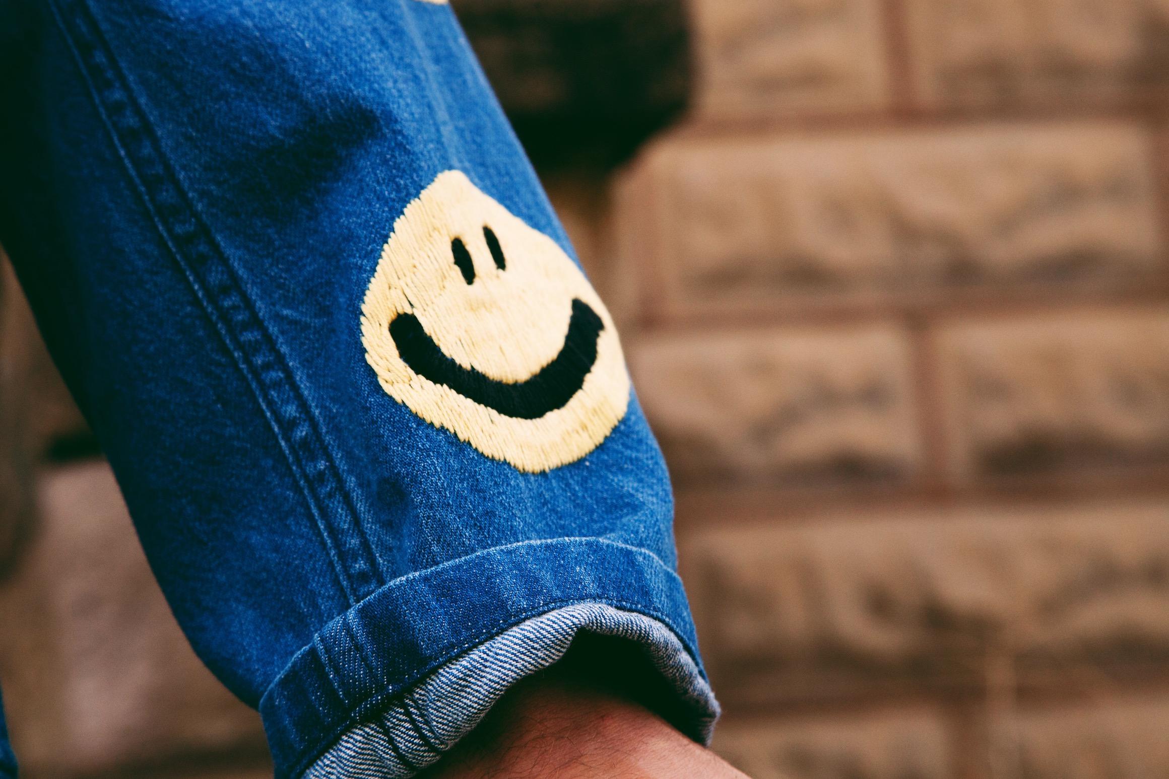 kapital kountry smiley on denim jacket