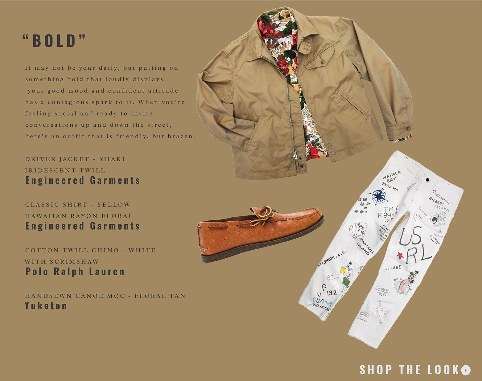 what to wear featuring engineered garments, polo ralph lauren and yuketen