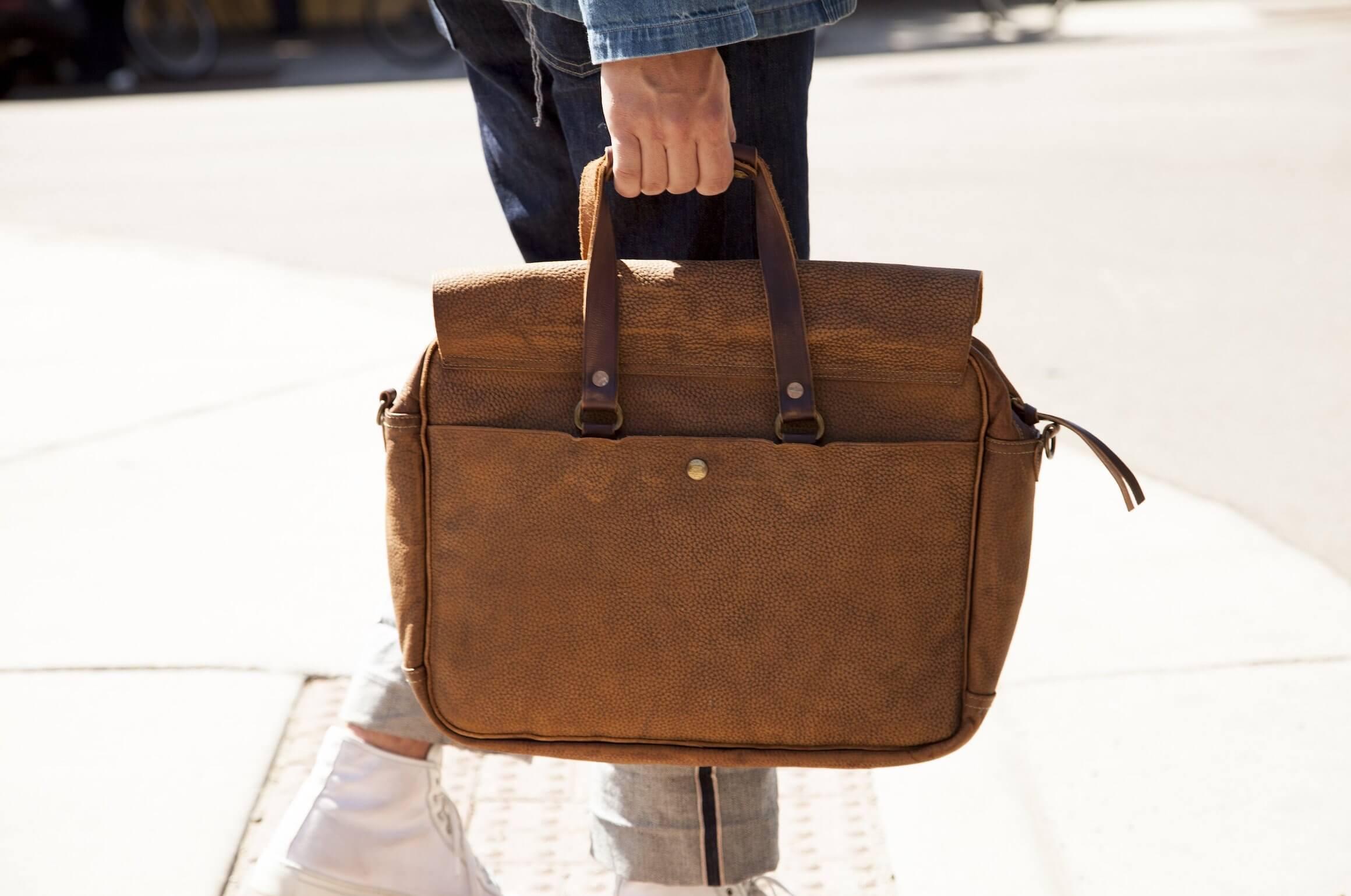 rrl leather bag