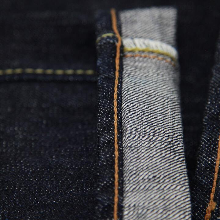 detail image of chain stitching on jeans