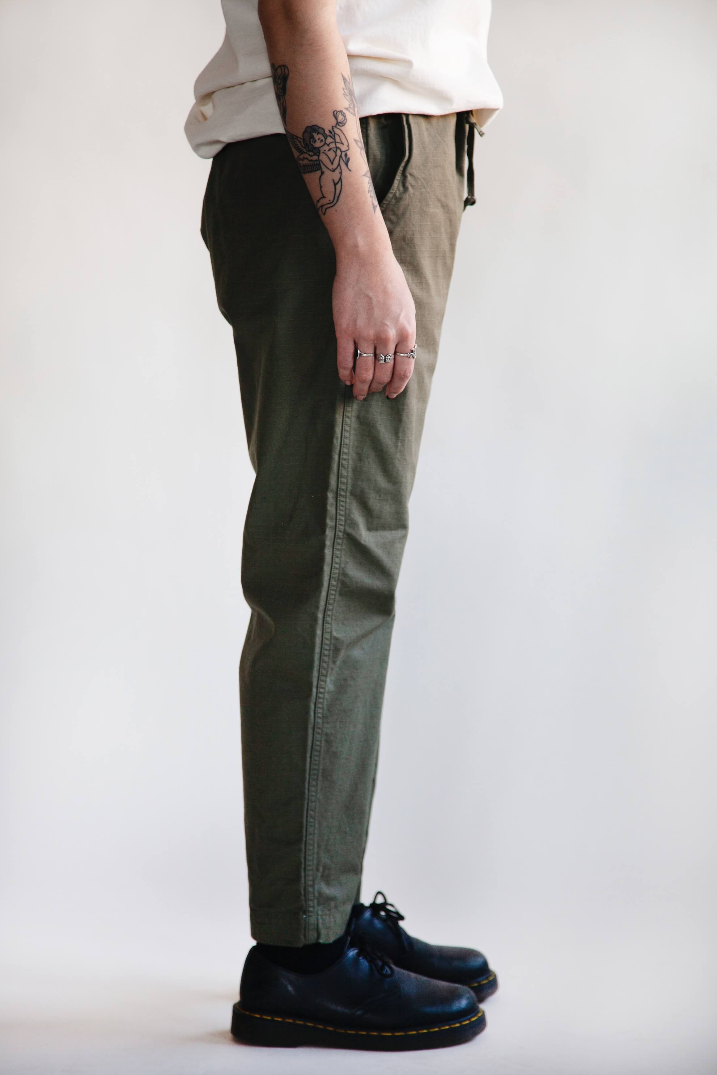 orslow new yorker pant on female model