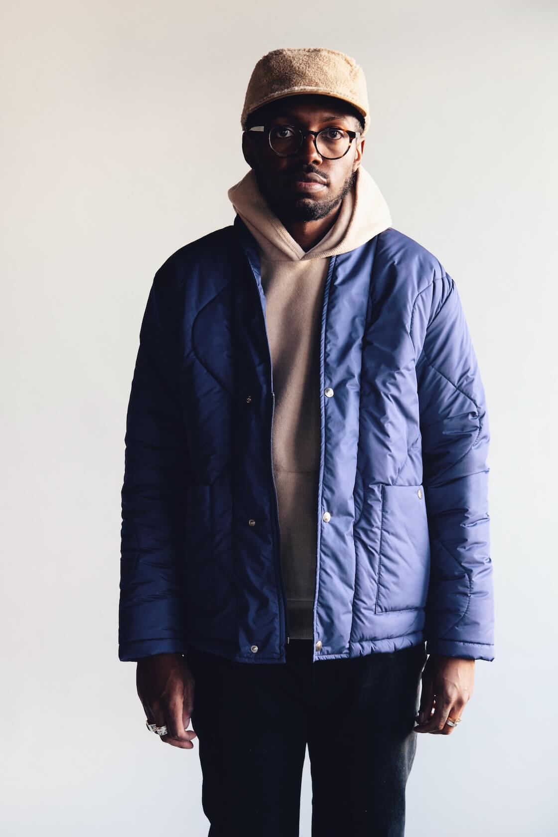 cableami boa fleece cap, la paz barbosa padded jacket, la paz matias hoodie, harmony dorian jean on body