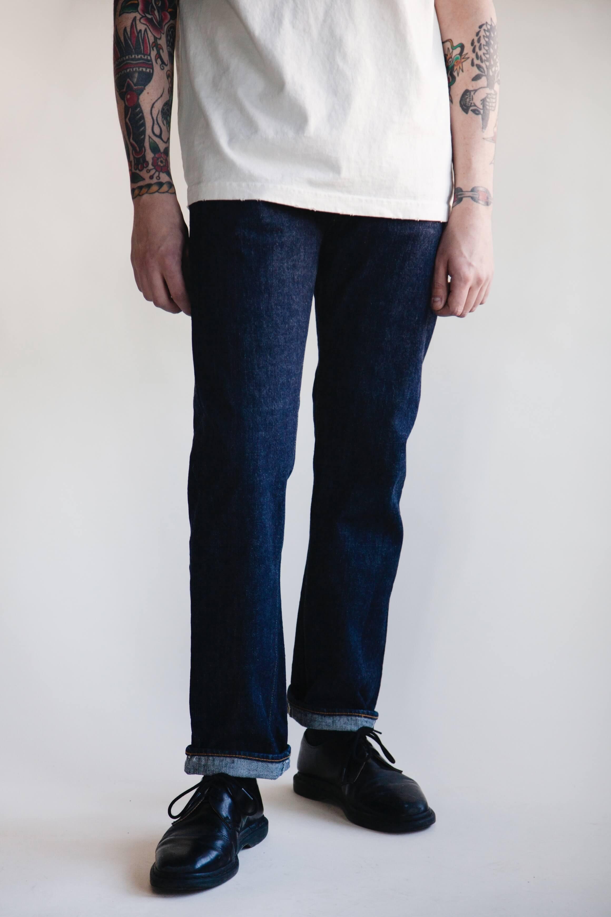 orslow 107 Ivy Denim - one wash on male model
