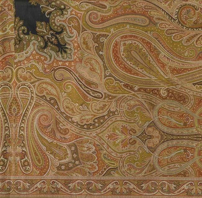 paisley pattern on traditional kashmiri shawl