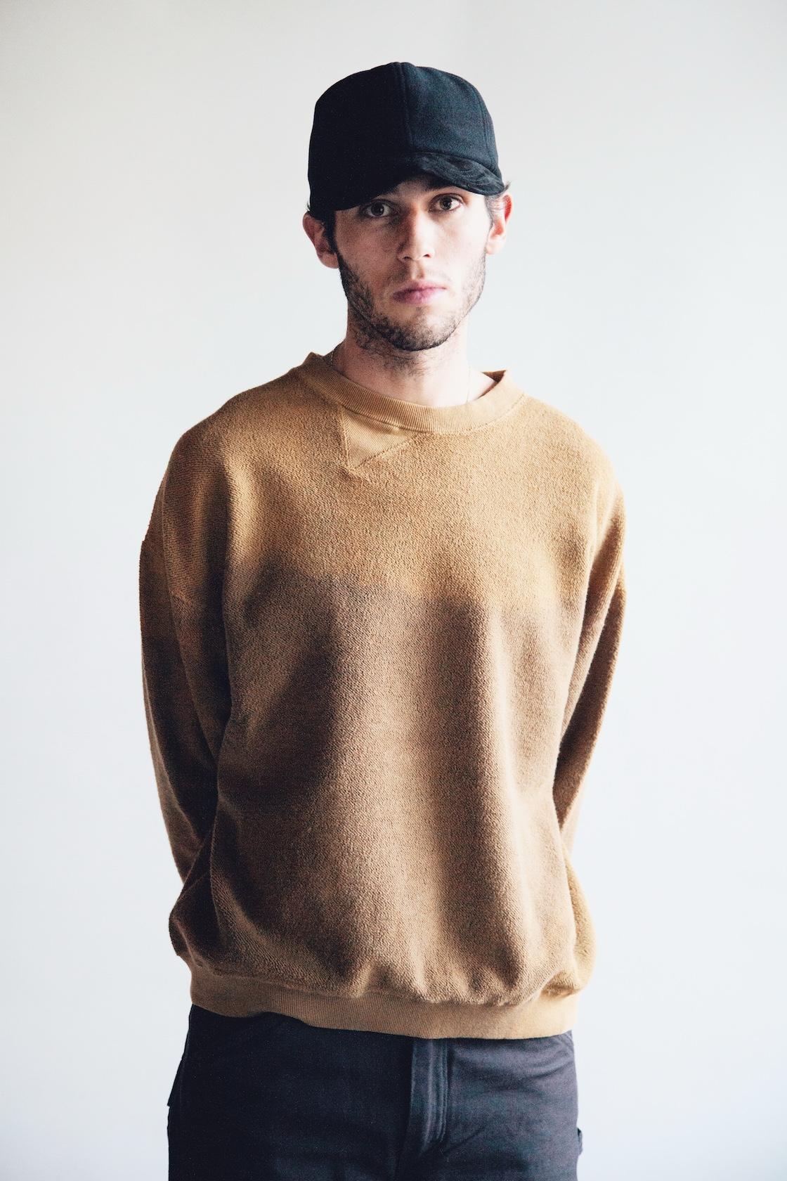 Hender scheme 2 tone wool cap, Noma t.d. breach twist sweatshirt, orslow canoe club painter pants on body