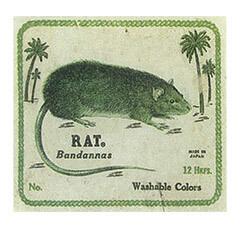 kapital's rat brand bandannas tag