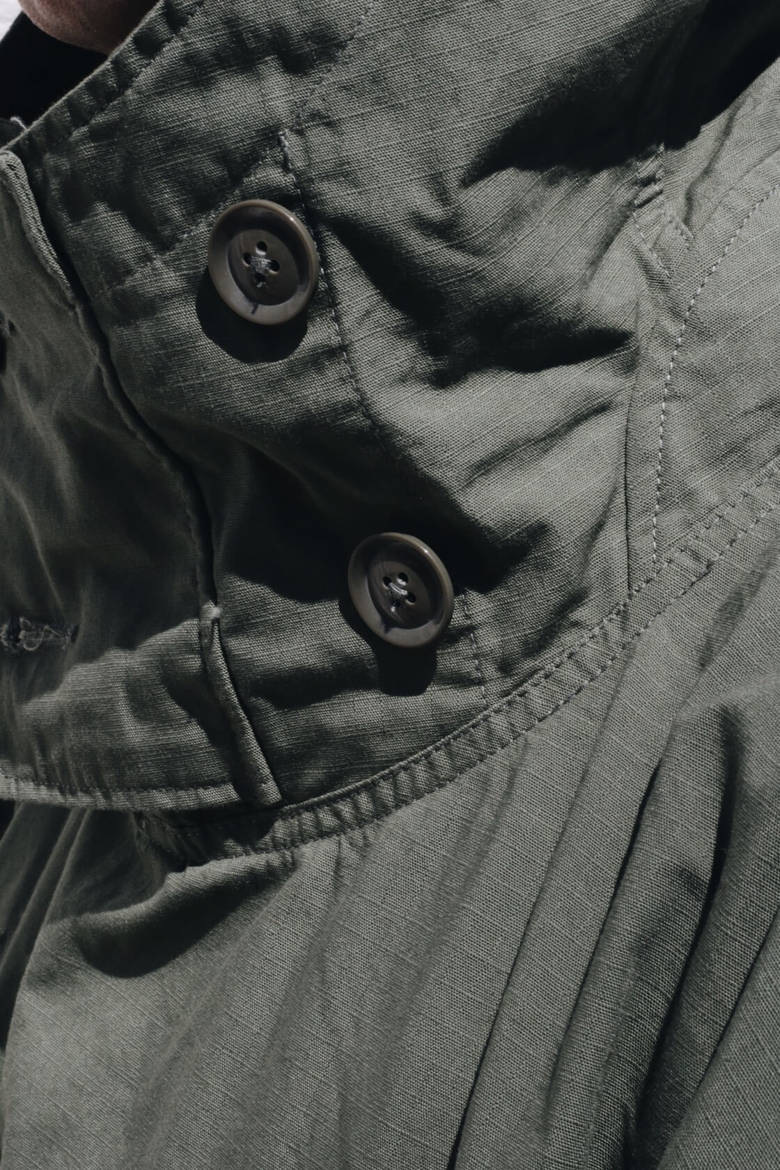 engineered garments over parka on body