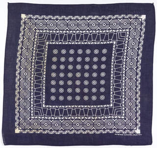 1920-1940 indigo bandana from the smithsonian collection