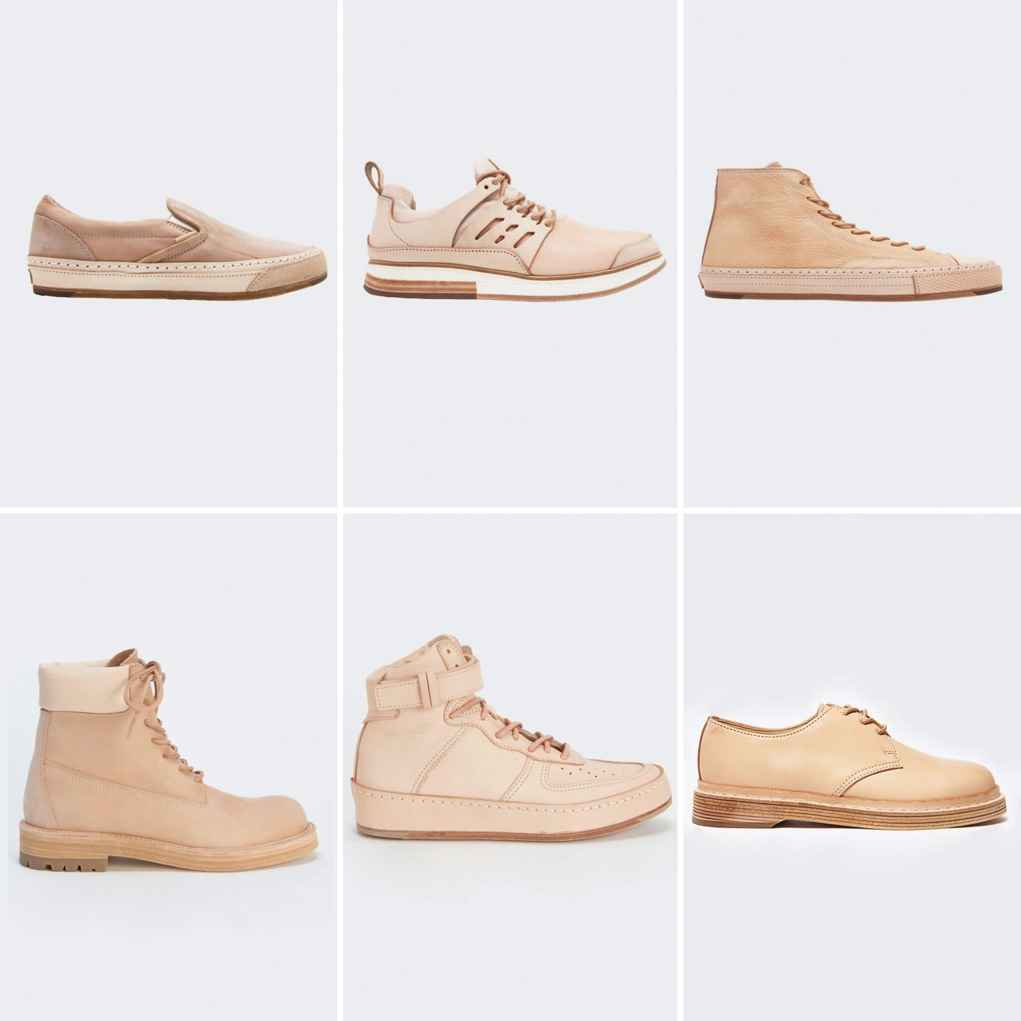 hender scheme's manual industrial products with vans classic slip-ons, nike prestos, converse hi-tops, timberlands, air force 1s and dr. martens